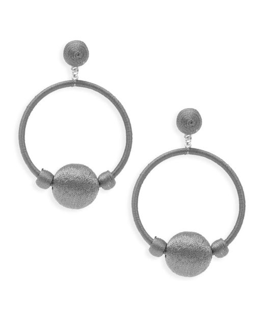 Gemma Simone - Gray Round Drop Earrings - Lyst