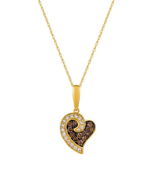 Le Vian - Metallic 14k Honey Gold, Vanilla Diamonds & Chocolate Diamonds Chocolatier Pendant Necklace - Lyst