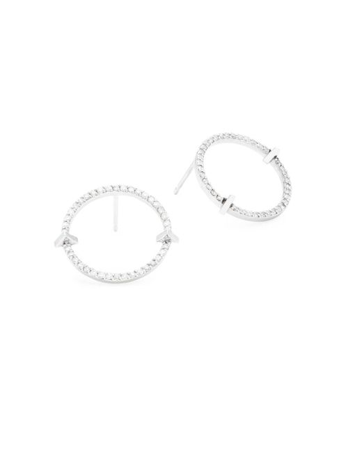 Paige Novick - Metallic Essentials Diamond & 14k White Gold Hoop Earrings - Lyst