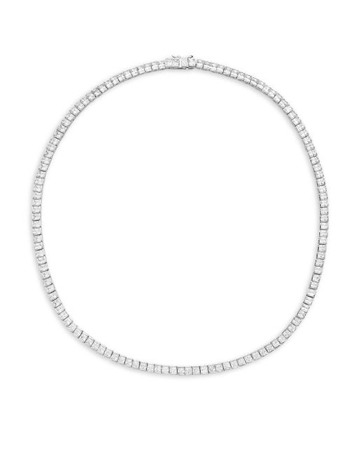 Saks Fifth Avenue | Metallic Silvertone Cubic Zirconia Necklace | Lyst
