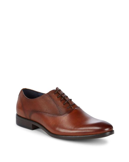 Steve Madden - Brown P-daggar Leather Oxfords for Men - Lyst