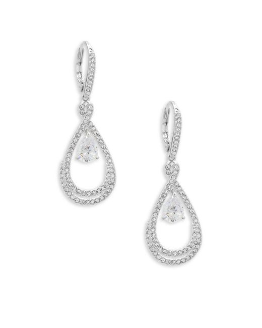 Adriana Orsini - Metallic Crystal Infinity Drop Earrings - Lyst
