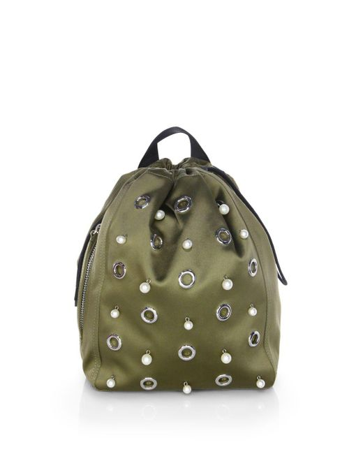 3.1 Phillip Lim - Green Go-go Medium Knapsack - Lyst