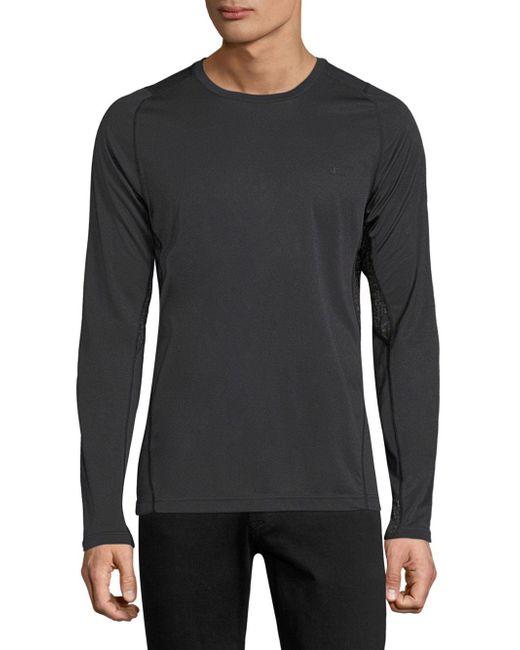 J.Lindeberg - Black Active Long-sleeve Tee for Men - Lyst