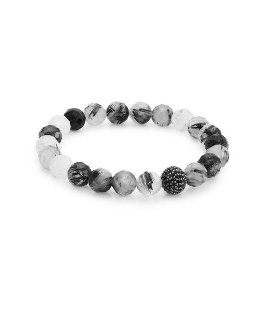 Bavna - Black Quartz Spinel Beaded Bracelet - Lyst