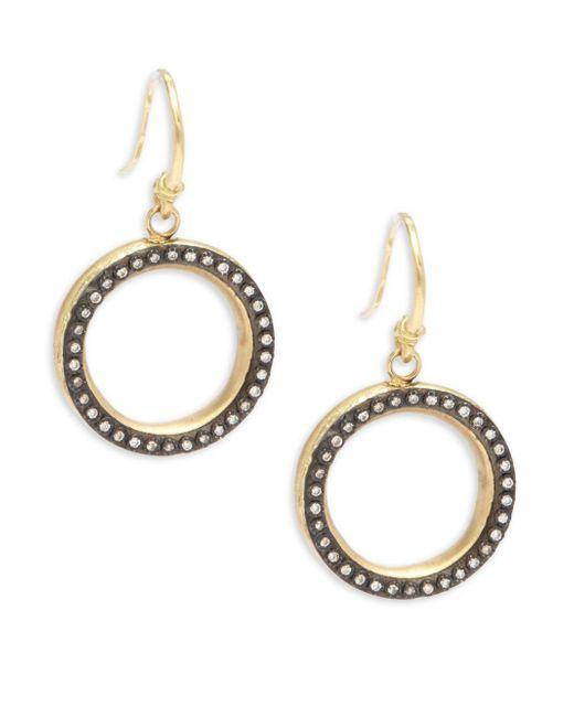 Armenta - Metallic Old World White Diamond & 18k Goldplated Sterling Silver Drop Earrings - Lyst