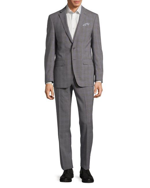 Tallia Orange - Gray Mason Slim-fit Wool Suit for Men - Lyst