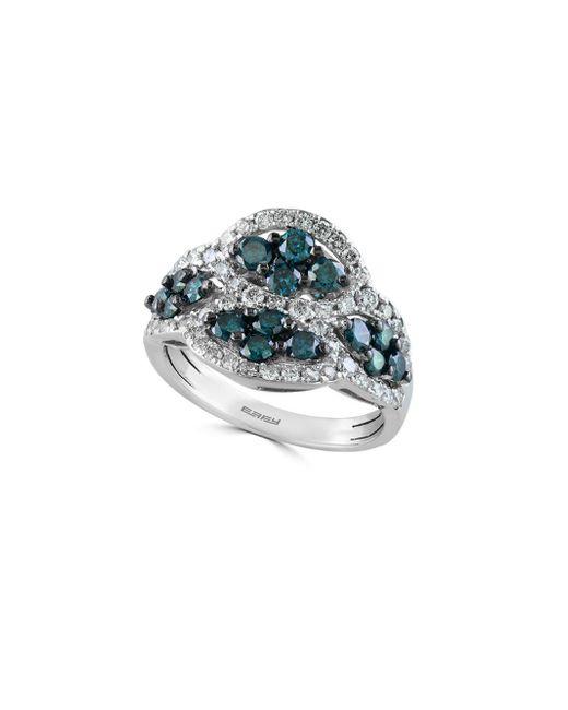 Effy - Blue Final Call Diamond & 14k White Gold Ring - Lyst