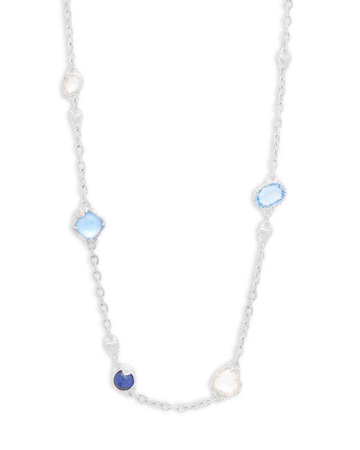Judith Ripka - Metallic Prism Multi-stone Chain Necklace - Lyst