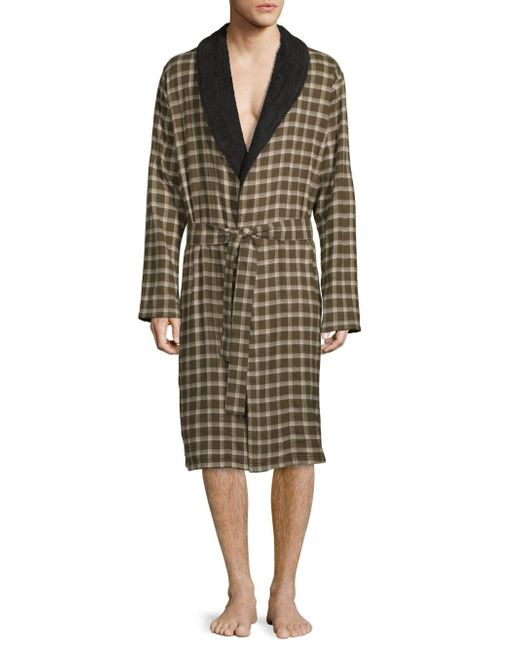 b6362dae5a Lyst - Ugg Kalib Plaid Robe in Green for Men