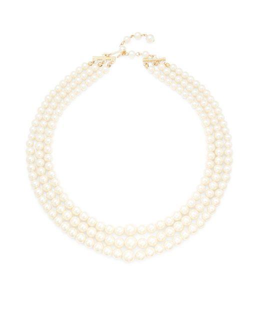 ERWIN PEARL STUDIO   White Faux Pearl Triple Strand Necklace   Lyst