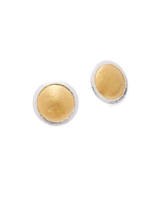 Gurhan - Metallic 24k Yellow Gold-plated Button Earrings - Lyst