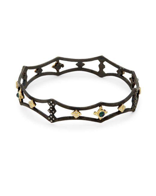 Armenta - Metallic New World Diamond Cutout Bangle Bracelet - Lyst