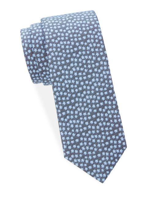 Saks Fifth Avenue - Blue Floral-print Silk Tie for Men - Lyst