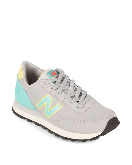 New Balance - Metallic Round Toe Lace-up Sneakers - Lyst