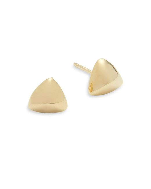 Saks Fifth Avenue - Metallic 14k Yellow Gold Triangle Stud Earrings - Lyst