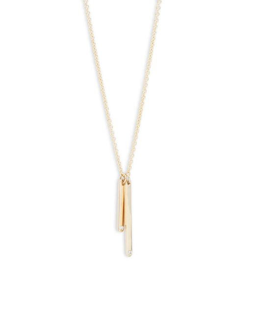 Ron Hami | Matchstick Diamond & 14k Yellow Gold Pendant Necklace | Lyst