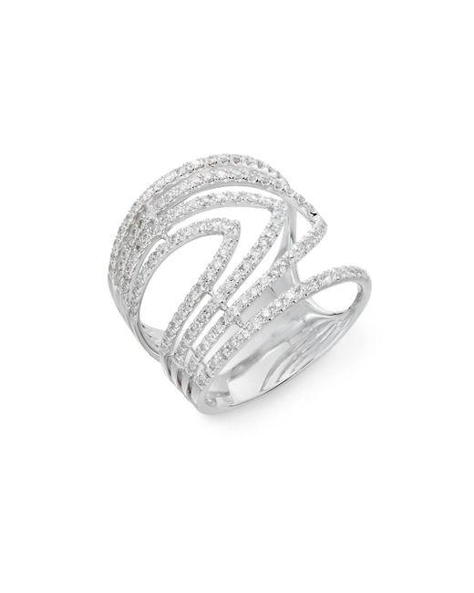 Effy - Metallic Diamond And 14k White Gold Ring - Lyst
