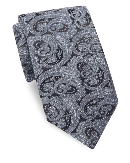 Ike Behar - Gray Persian Nights Silk Tie for Men - Lyst