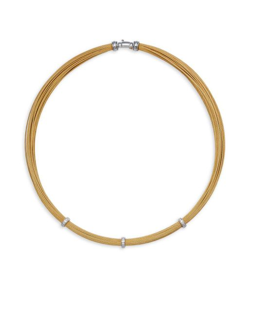 Charriol   Metallic Diamond & 18k White Gold Necklace   Lyst