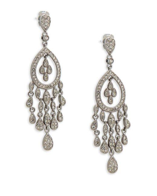 Adriana Orsini | Metallic Crystal Teardrop Chandelier Earrings | Lyst