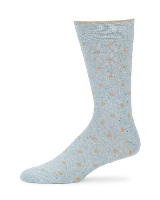 Saks Fifth Avenue - Blue Polka Dot Socks - Lyst