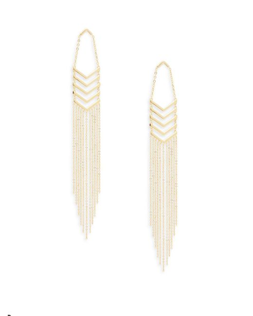Noir Jewelry | Metallic Fringed Chevron Earrings | Lyst
