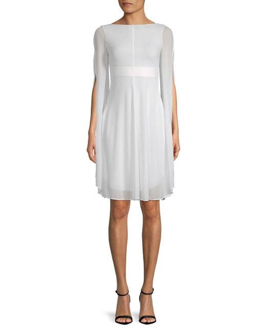 079ea161b3 Akris Split-sleeve A-line Dress in White - Save 36% - Lyst