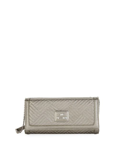 Love Moschino - Multicolor Shiny Quilted Crossbody Clutch - Lyst