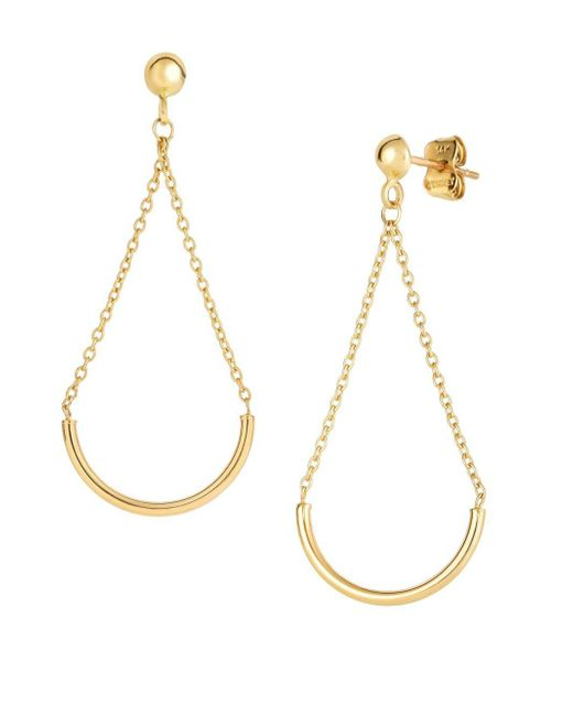 Saks Fifth Avenue - Metallic 14k Yellow Gold Dangle Earrings - Lyst