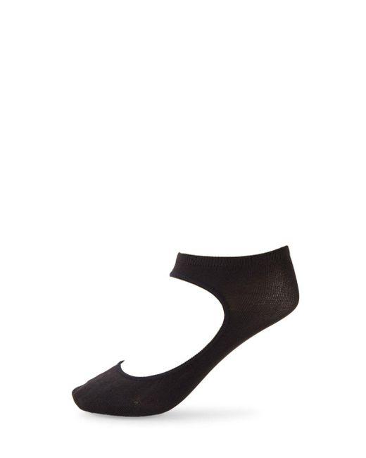 Hue Black Solid Peeping Ankle Sockliners