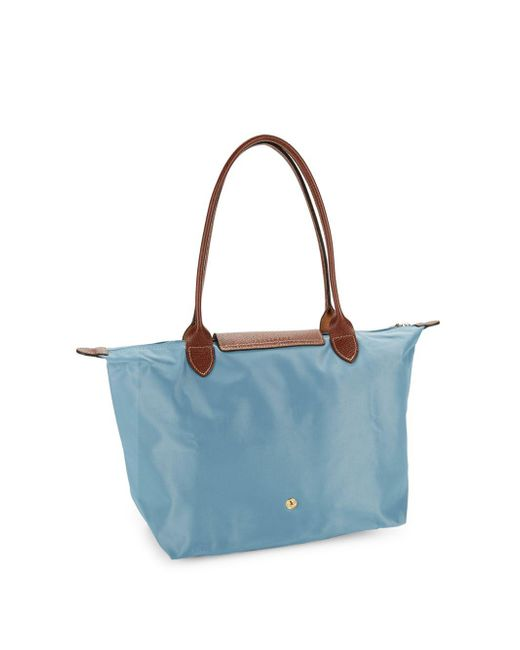 Longchamp Large Le Pliage Tote in Blue - Save 17% - Lyst 98bccd5f4913e