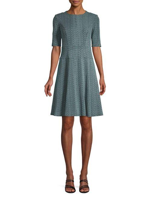 Nanette Lepore - Blue Knit Short-sleeve A-line Dress - Lyst