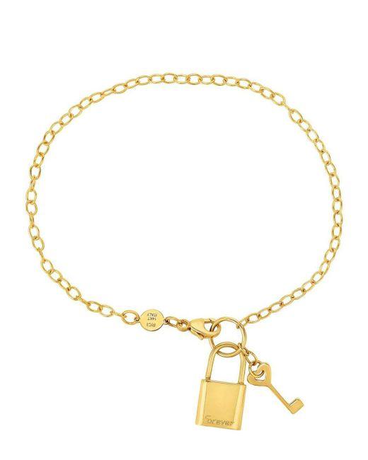 Saks Fifth Avenue - Metallic 14k Yellow Gold Lock And Keychain Bracelet - Lyst