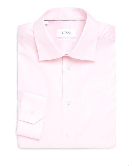 Eton of Sweden | Pink Solid Slim-fit Dress Shirt for Men | Lyst
