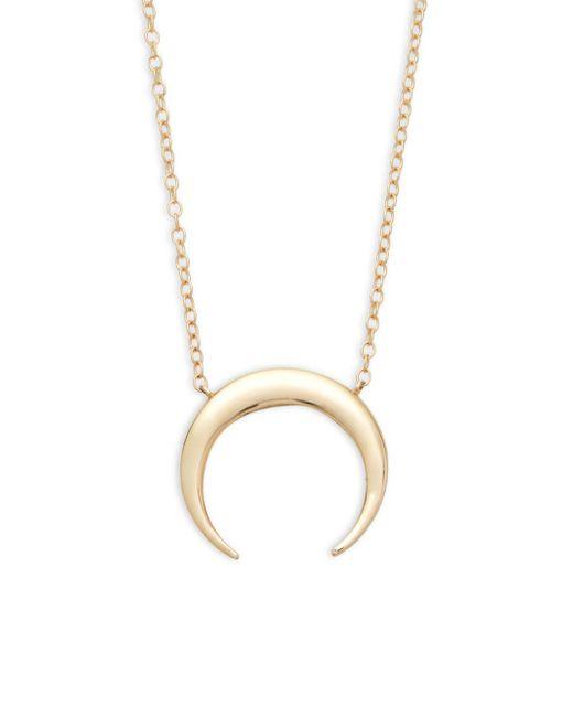 Saks Fifth Avenue - Metallic 14k Gold Half-moon Pendant Necklace - Lyst