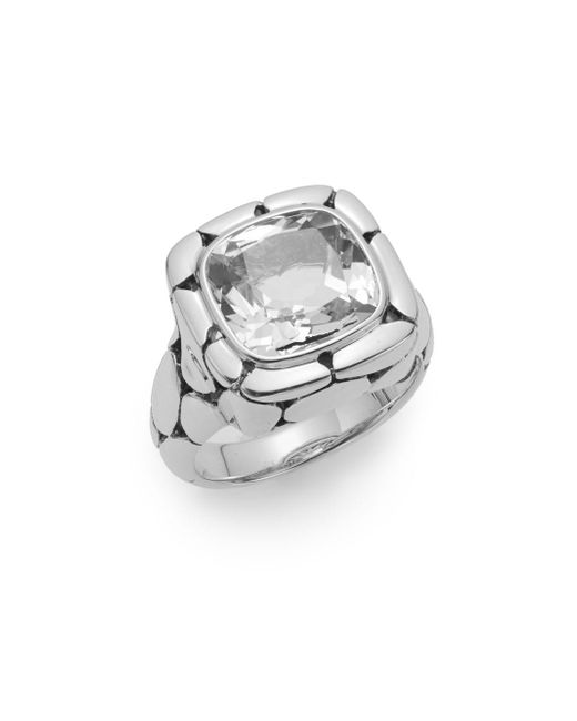 John Hardy - Metallic Batu Kali White Topaz & Sterling Silver Ring - Lyst
