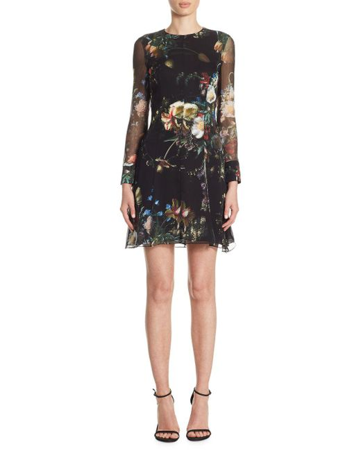 Adam Lippes - Black Silk Mini Dress - Lyst