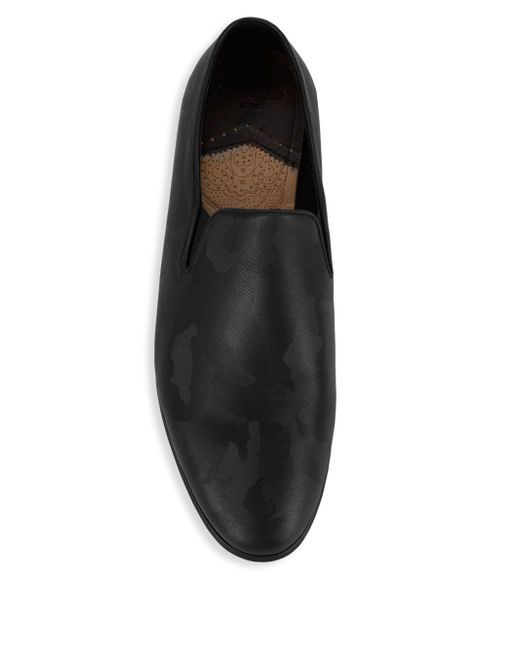 d275f4e10cf47 ... Robert Graham - Black Fry Camo Leather Loafers for Men - Lyst ...