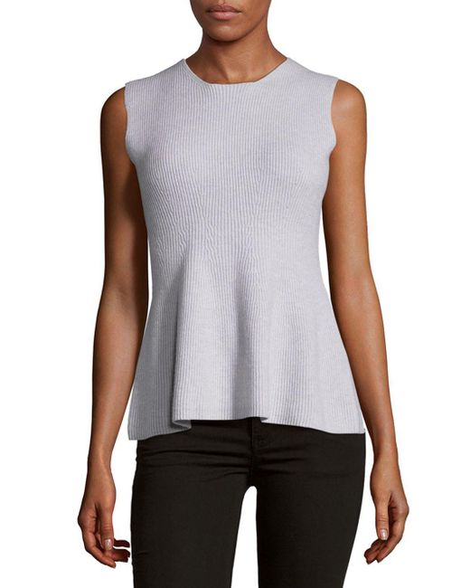 Narciso Rodriguez - Gray Felted Sleeveless Top - Lyst