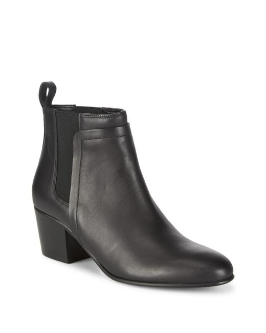 Vince - Black Hallie Leather Ankle Boots - Lyst