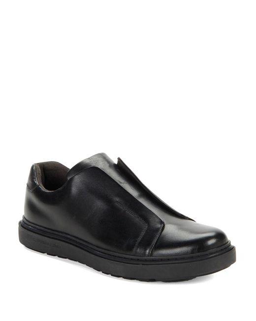 Karl Lagerfeld - Black Leather Slip-on Sneakers for Men - Lyst