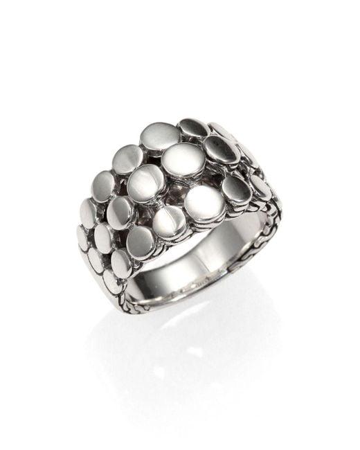 John Hardy - Metallic Dot Sterling Silver Three-row Ring - Lyst