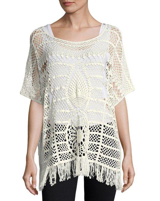 Trina Turk - White Kimber Crochet-lace Sweater - Lyst