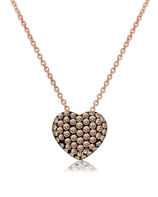 Le vian chocolatier diamond 14k rose gold pendant necklace in le vian metallic chocolatier diamond 14k rose gold pendant necklace aloadofball Gallery