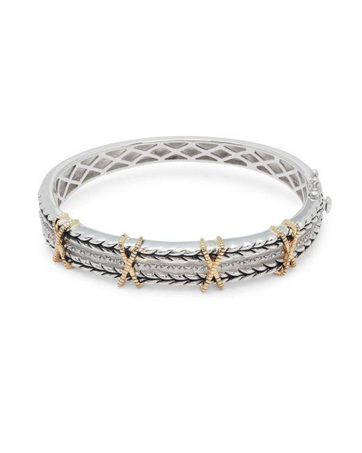 Effy - Metallic 18k Yellow Gold Embossed Bangle Bracelet - Lyst
