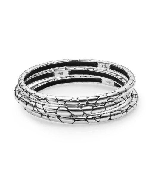 John Hardy - Metallic Kali Bangle Bracelet Set - Lyst