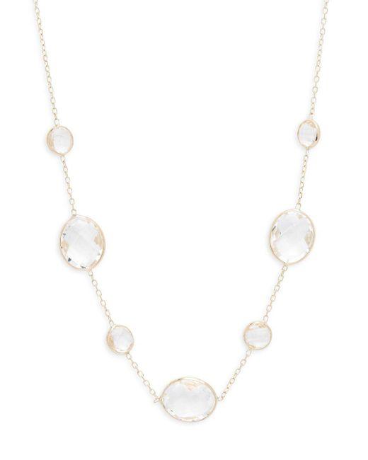 Saks Fifth Avenue - Metallic Clear Quartz Single Strand Necklace - Lyst