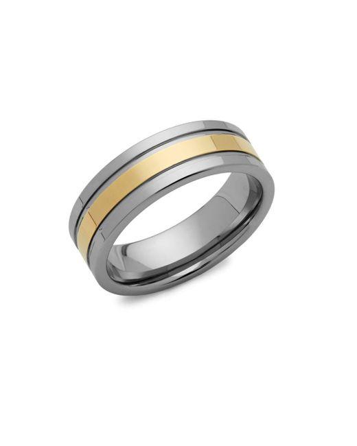 Perepaix - Metallic Two-tone Tungsten Ring - Lyst