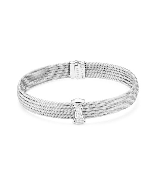 Alor - Metallic Classique Multi-row Pave Diamond Bangle - Lyst